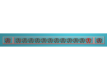 OSXH014-JDP格式欧式线花精雕图长条洋花精雕图石线边框雕刻图(含灰度图)
