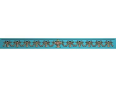 OSXH015-JDP格式欧式线花精雕图长条洋花精雕图石线边框雕刻图(含灰度图)