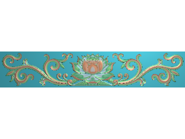 OSXH016-JDP格式欧式线花精雕图长条洋花精雕图石线边框雕刻图