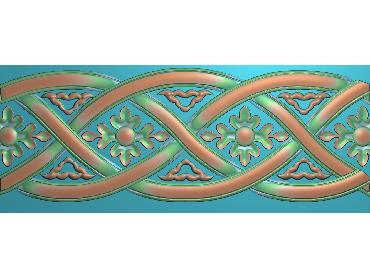 OSXH029-JDP格式欧式线花精雕图长条洋花精雕图石线边框雕刻图