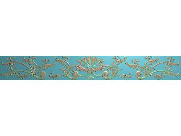 OSXH041-JDP格式欧式线花精雕图长条洋花精雕图石线边框雕刻图