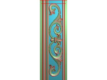OSXH048-JDP格式欧式线花精雕图长条洋花精雕图石线边框雕刻图