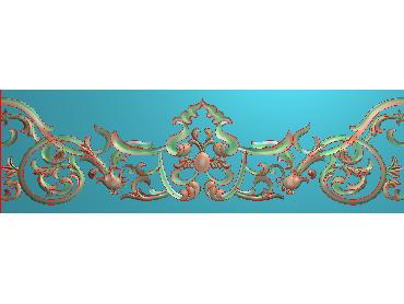 OSXH057-JDP格式欧式线花精雕图长条洋花精雕图石线边框雕刻图