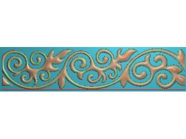 OSXH072-JDP格式欧式线花精雕图长条洋花精雕图石线边框雕刻图