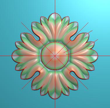 洋花贴花,欧式圆花,欧式圆形洋花精雕图,圆花电脑雕刻图,欧式圆洋花精雕图