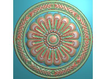 OUYH060-JDP格式欧式圆形洋花精雕图圆花电脑雕刻图欧式圆洋花精雕图