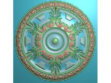 OUYH072-JDP格式欧式圆形洋花精雕图圆花电脑雕刻图欧式圆洋花精雕图