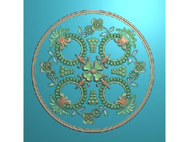 OUYH075-JDP格式欧式圆形洋花精雕图圆花电脑雕刻图欧式圆洋花精雕图