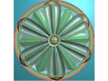 OUYH082-JDP格式欧式圆形洋花精雕图圆花电脑雕刻图欧式圆洋花精雕图