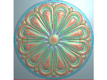 OUYH083-JDP格式欧式圆形洋花精雕图圆花电脑雕刻图欧式圆洋花精雕图