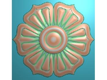 OUYH085-JDP格式欧式圆形洋花精雕图圆花电脑雕刻图欧式圆洋花精雕图
