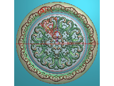 OUYH105-JDP格式欧式圆形洋花精雕图圆花电脑雕刻图欧式圆洋花精雕图