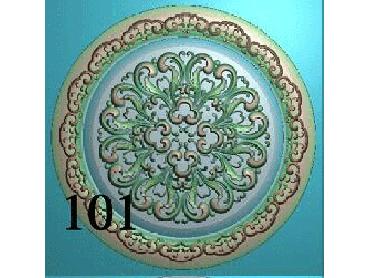 OUYH108-JDP格式欧式圆形洋花精雕图圆花电脑雕刻图欧式圆洋花精雕图