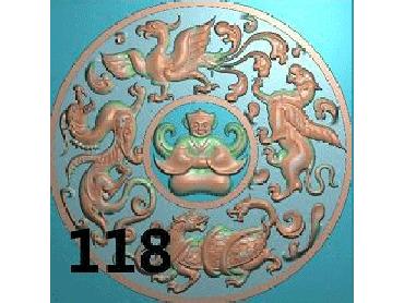 OUYH125-JDP格式欧式圆形洋花精雕图圆花电脑雕刻图欧式圆洋花精雕图
