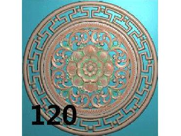 OUYH127-JDP格式欧式圆形洋花精雕图圆花电脑雕刻图欧式圆洋花精雕图