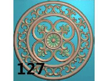 OUYH133-JDP格式欧式圆形洋花精雕图圆花电脑雕刻图欧式圆洋花精雕图