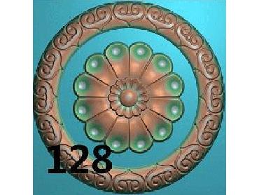 OUYH134-JDP格式欧式圆形洋花精雕图圆花电脑雕刻图欧式圆