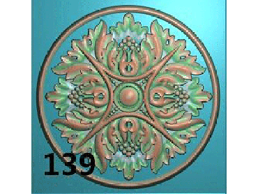 OUYH145-JDP格式欧式圆形洋花精雕图圆花电脑雕刻图欧式圆洋花精雕图