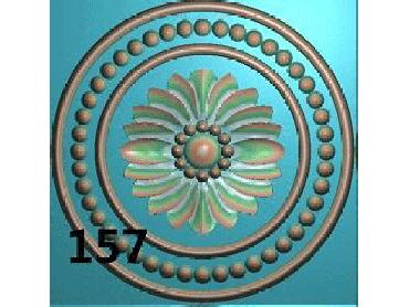 OUYH163-JDP格式欧式圆形洋花精雕图圆花电脑雕刻图欧式圆洋花精雕图