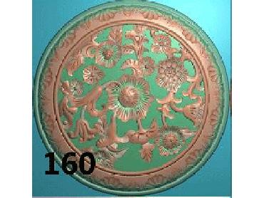 OUYH166-JDP格式欧式圆形洋花精雕图圆花电脑雕刻图欧式圆洋花精雕图