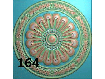OUYH170-JDP格式欧式圆形洋花精雕图圆花电脑雕刻图欧式圆洋花精雕图