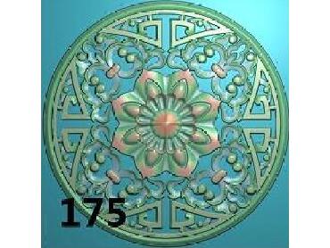 OUYH181-JDP格式欧式圆形洋花精雕图圆花电脑雕刻图欧式圆洋花精雕图