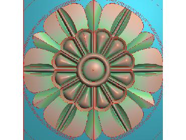 OUYH205-JDP格式欧式圆形洋花精雕图圆花电脑雕刻图欧式圆洋花精雕图
