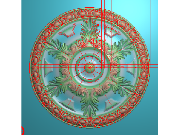 OUYH212-JDP格式欧式圆形洋花精雕图圆花电脑雕刻图欧式圆洋花精雕图