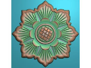 OUYH221-JDP格式欧式圆形洋花精雕图圆花电脑雕刻图欧式圆洋花精雕图