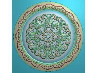 OUYH227-JDP格式欧式圆形洋花精雕图圆花电脑雕刻图欧式圆洋花精雕图
