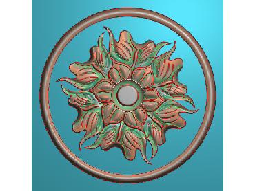 OUYH236-JDP格式欧式圆形洋花精雕图圆花电脑雕刻图欧式圆洋花精雕图