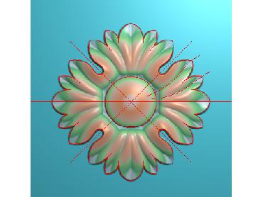 OUYH237-JDP格式欧式圆形洋花精雕图圆花电脑雕刻图欧式圆