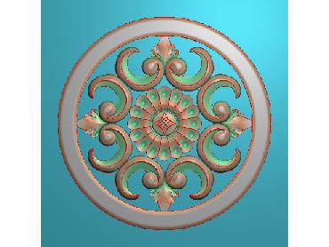 OUYH244-JDP格式欧式圆形洋花精雕图圆花电脑雕刻图欧式圆洋花精雕图