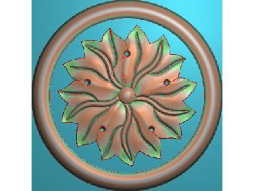 OUYH250-JDP格式欧式圆形洋花精雕图圆花电脑雕刻图欧式圆洋花精雕图