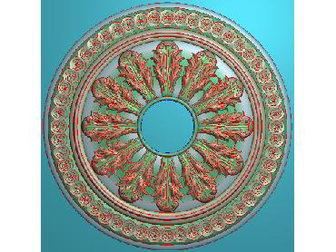 OUYH266-JDP格式欧式圆形洋花精雕图圆花电脑雕刻图欧式圆洋花精雕图