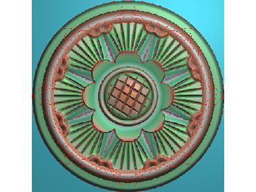 OUYH271-JDP格式欧式圆形洋花精雕图圆花电脑雕刻图欧式圆洋花精雕图
