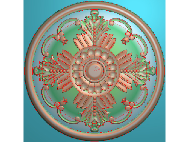 OUYH275-JDP格式欧式圆形洋花精雕图圆花电脑雕刻图欧式圆洋花精雕图