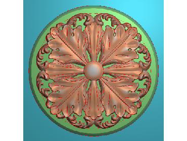 OUYH292-JDP格式欧式圆形洋花精雕图圆花电脑雕刻图欧式圆洋花精雕图