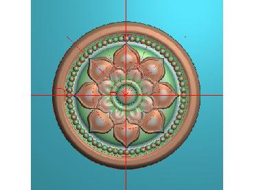 OUYH296-JDP格式欧式圆形洋花精雕图圆花电脑雕刻图欧式圆洋花精雕图