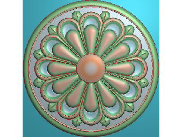 OUYH298-JDP格式欧式圆形洋花精雕图圆花电脑雕刻图欧式圆洋花精雕图