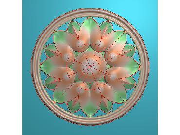 OUYH302-JDP格式欧式圆形洋花精雕图圆花电脑雕刻图欧式圆洋花精雕图
