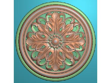 OUYH306-JDP格式欧式圆形洋花精雕图圆花电脑雕刻图欧式圆洋花精雕图