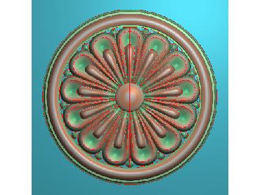 OUYH315-JDP格式欧式圆形洋花精雕图圆花电脑雕刻图欧式圆洋花精雕图