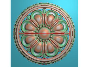 OUYH321-JDP格式欧式圆形洋花精雕图圆花电脑雕刻图欧式圆洋花精雕图