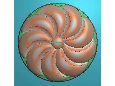 OUYH324-JDP格式欧式圆形洋花精雕图圆花电脑雕刻图欧式圆洋花精雕图