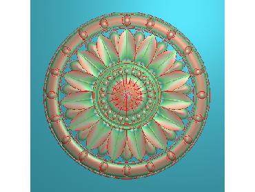 OUYH336-JDP格式欧式圆形洋花精雕图圆花电脑雕刻图欧式圆洋花精雕图