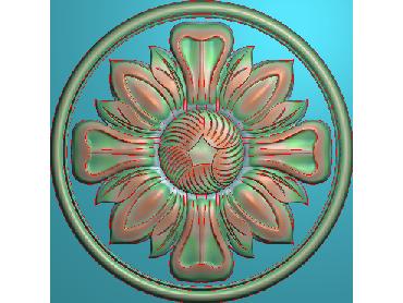 OUYH344-JDP格式欧式圆形洋花精雕图圆花电脑雕刻图欧式圆洋花精雕图