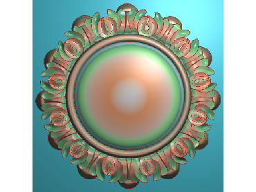 OUYH359-JDP格式欧式圆形洋花精雕图圆花电脑雕刻图欧式圆洋花精雕图