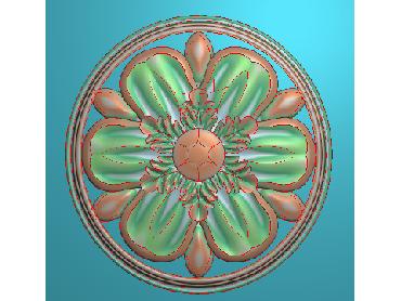 OUYH360-JDP格式欧式圆形洋花精雕图圆花电脑雕刻图欧式圆洋花精雕图