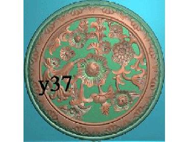 OUYH391-JDP格式欧式圆形洋花精雕图欧式圆洋花精雕图圆花灰度图圆花电脑雕刻图(含灰度图)